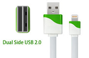 Dual Side USB Data  Sync Charger Cable